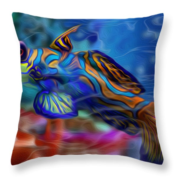 Colors Below 2 Throw Pillow by Jack Zulli