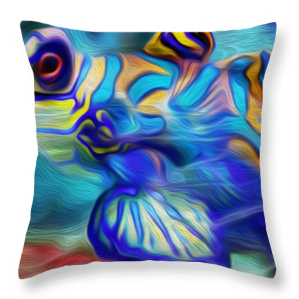 Colors Below Throw Pillow by Jack Zulli