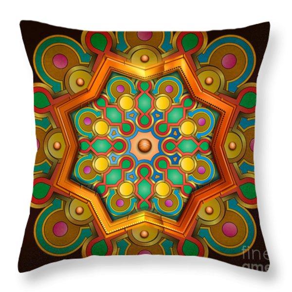 Colors Burst Throw Pillow by Bedros Awak