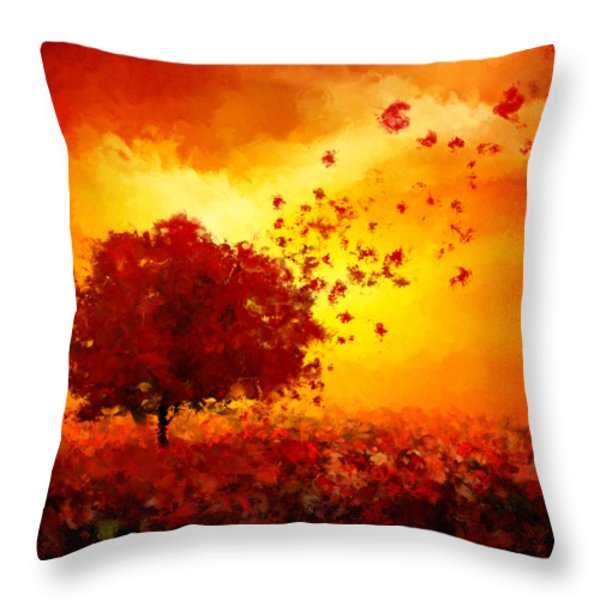 Colors Hymn Throw Pillow by Lourry Legarde