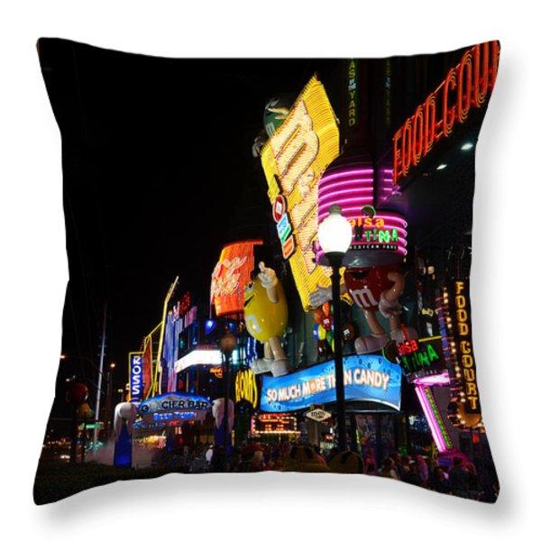 Colors of Las Vegas Throw Pillow by RicardMN Photography