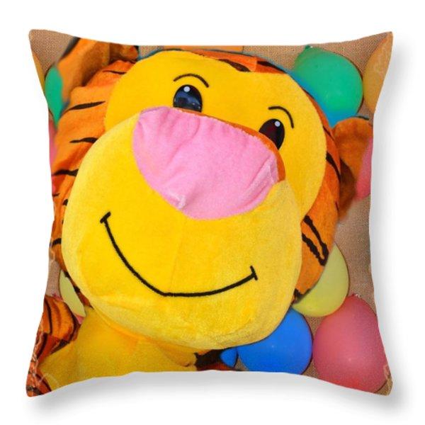 Colors Of The Fair 3 Throw Pillow by Kae Cheatham