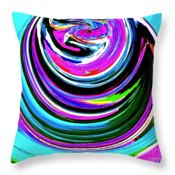 Colors On Canvas II Throw Pillow by Annie Zeno