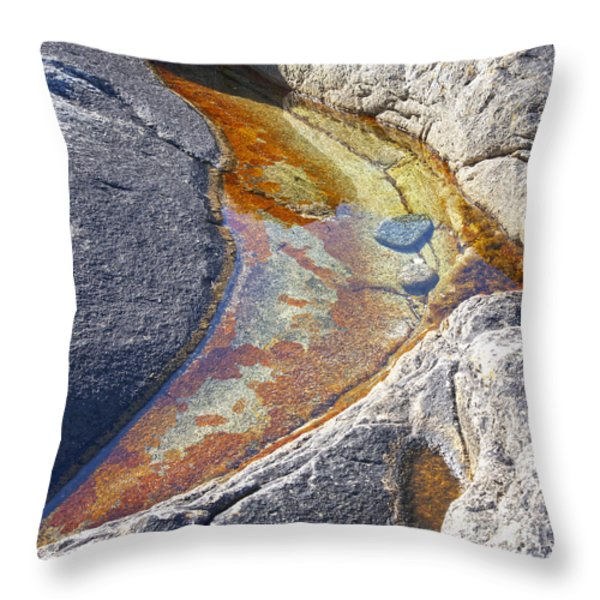 Colors on rock Throw Pillow by Heiko Koehrer-Wagner