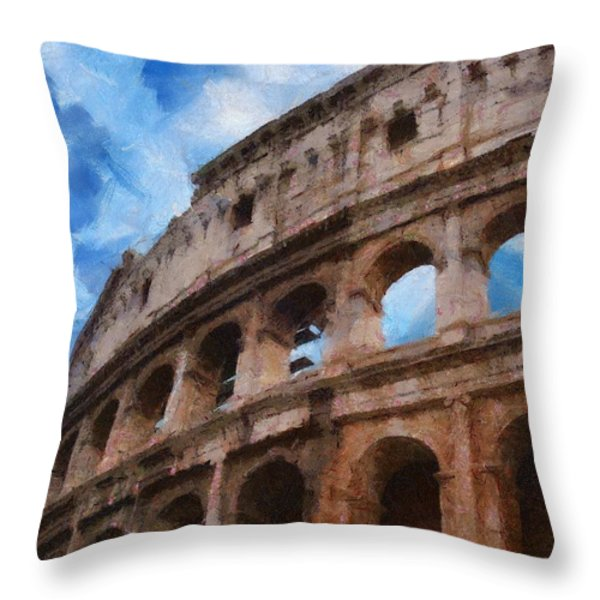Colosseo Throw Pillow by Jeff Kolker