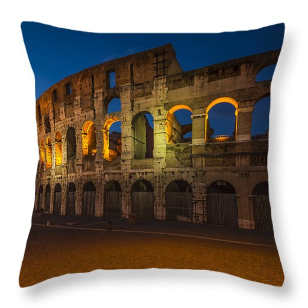 Colosseum Throw Pillow by Erik Brede