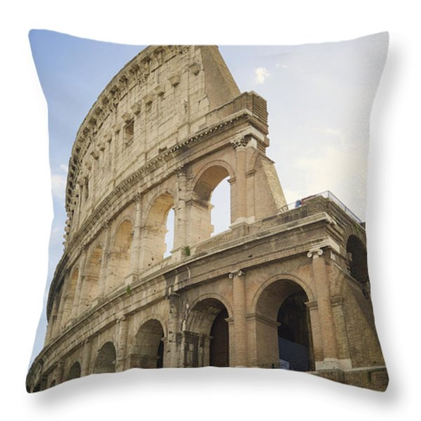 Colosseum Rome, Italy Throw Pillow by Allyson Scott