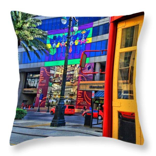 Colours De Nola Throw Pillow by Robert McCubbin