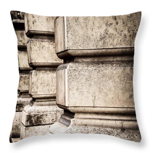 Columns Throw Pillow by Elena Elisseeva