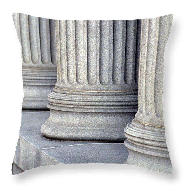 Columns Throw Pillow by Jon Neidert