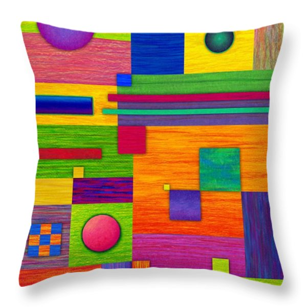 Combination 2 Throw Pillow by David K Small