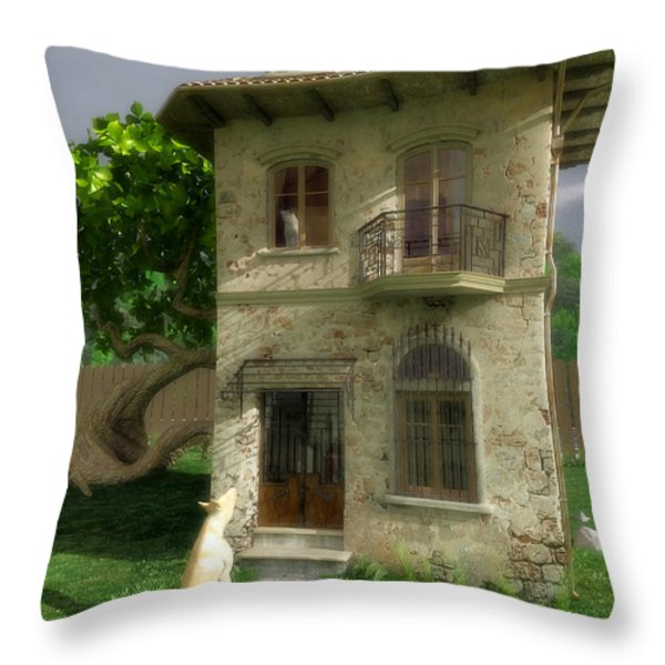 Come Out and Play Throw Pillow by Cynthia Decker