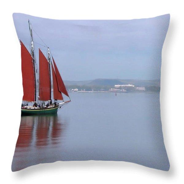 Come Sail Away Throw Pillow by Karol Livote