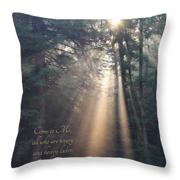 Come To Me Throw Pillow by Lori Deiter