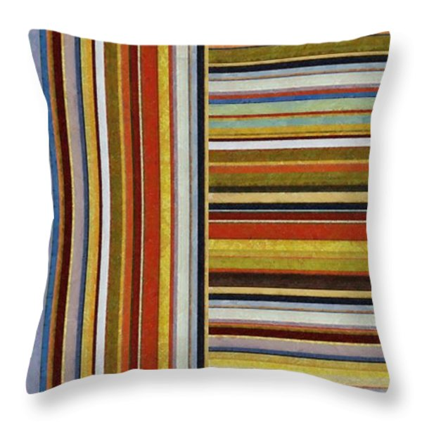 Comfortable Stripes lX Throw Pillow by Michelle Calkins
