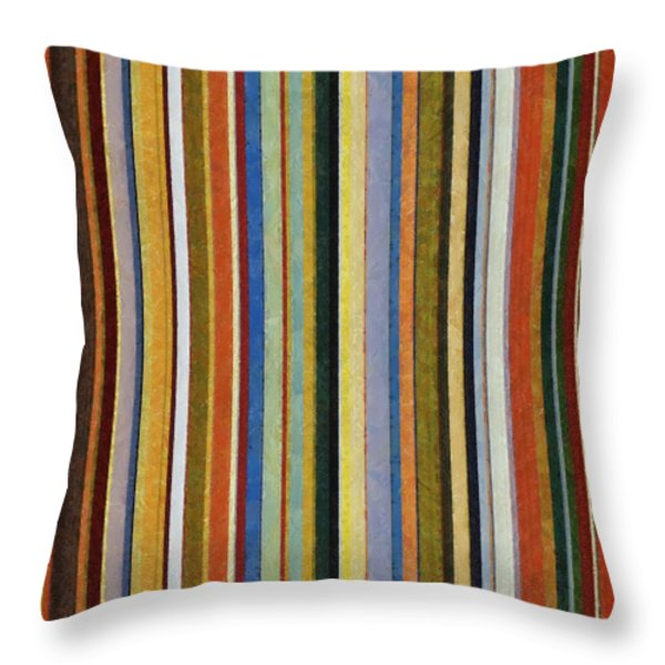 Comfortable Stripes V Throw Pillow by Michelle Calkins