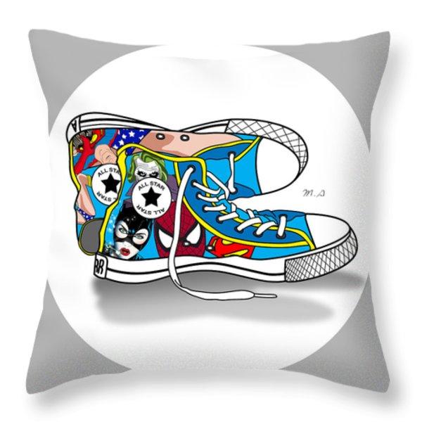Comics Shoes 2 Throw Pillow by Mark Ashkenazi