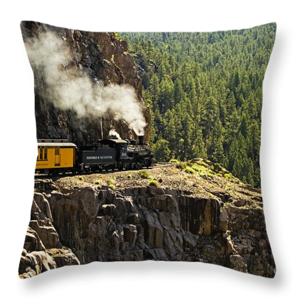 Coming Around The Bend Throw Pillow by Scott Pellegrin