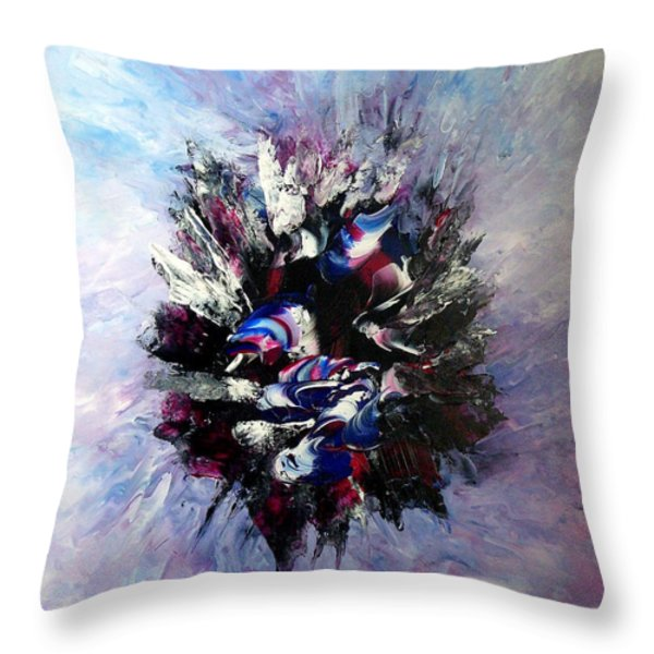 Coming from the other side of life Throw Pillow by Isabelle Vobmann