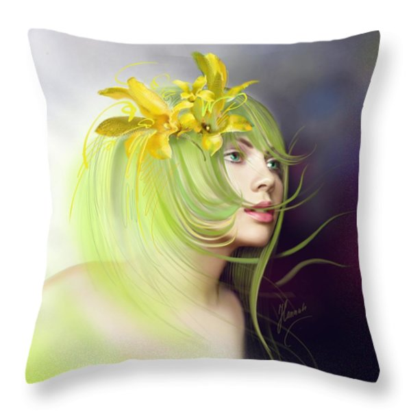 Coming Of Spring Throw Pillow by Anna Ewa Miarczynska