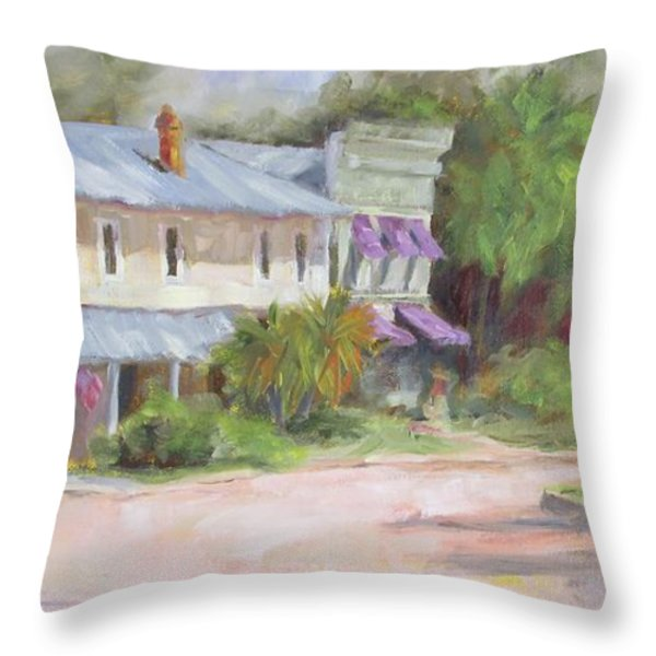 Commerce Street Apalach Throw Pillow by Susan Richardson