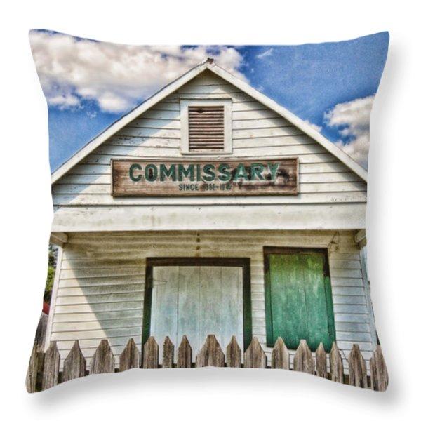 Commissary Throw Pillow by Scott Pellegrin