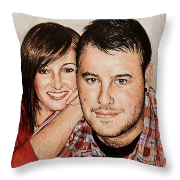 Commissions Throw Pillow by Andrew Read
