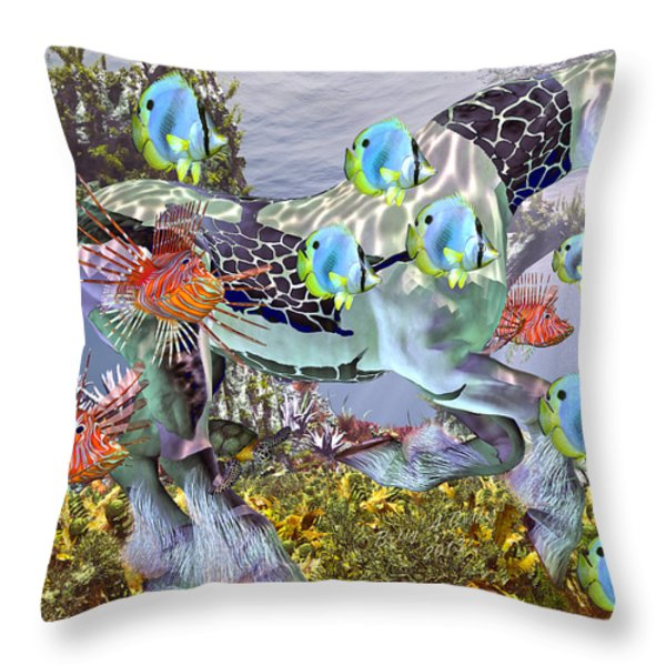 Common Ground Throw Pillow by Betsy A  Cutler