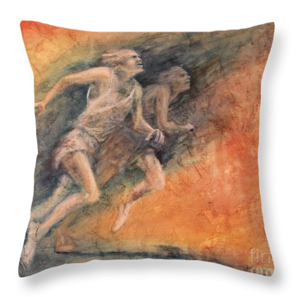 Competition Throw Pillow by Larry  Daeumler