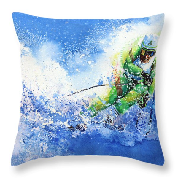 Competitive Edge Throw Pillow by Hanne Lore Koehler