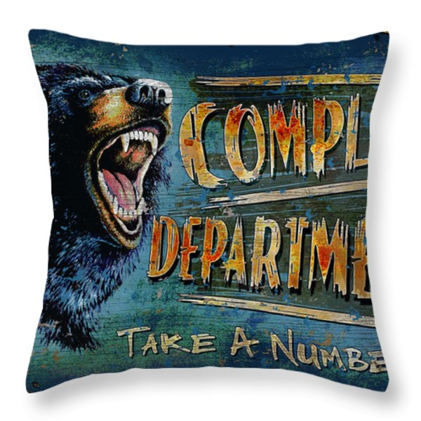 Complaint Department Throw Pillow by JQ Licensing