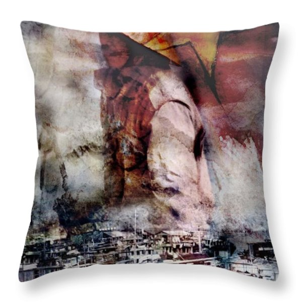 Composite On North Vietnam Throw Pillow by Design Pics Eye Traveller