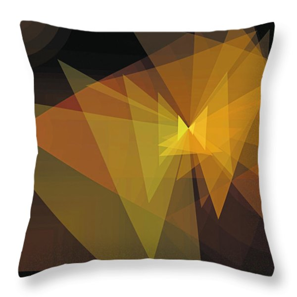 Composition 28 Throw Pillow by Terry Reynoldson