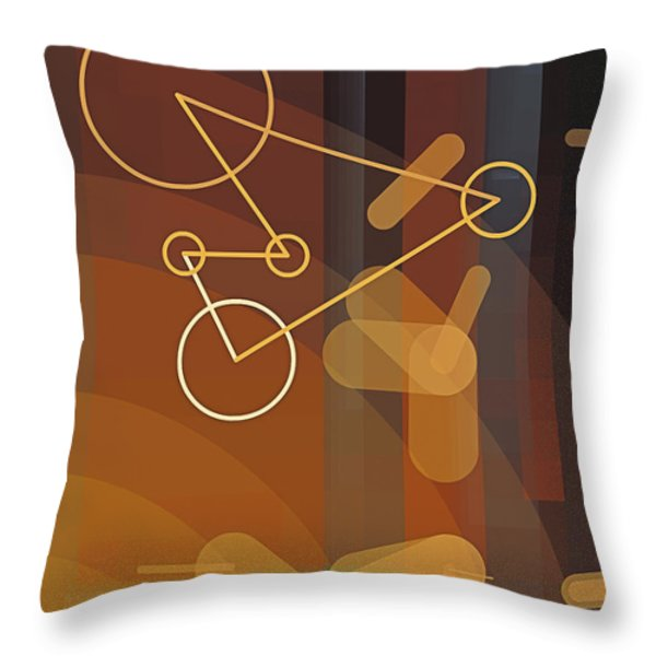 Composition 50 Throw Pillow by Terry Reynoldson