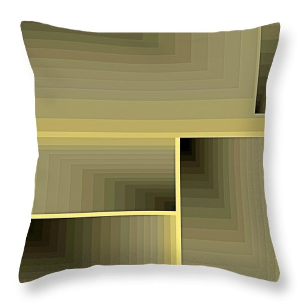 Composition 70 Throw Pillow by Terry Reynoldson