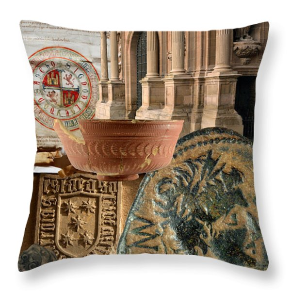 Composition for poster XIV Jornadas de Estudios Calagurritanos Throw Pillow by RicardMN Photography