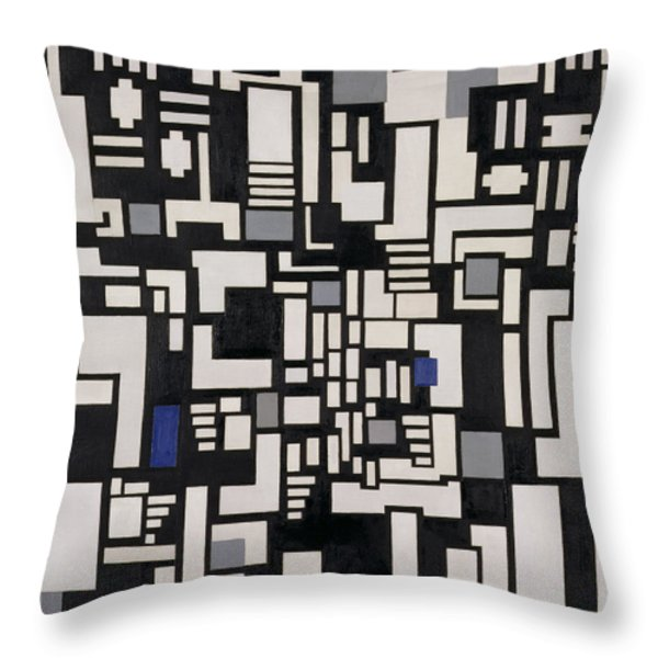 Composition Ix Throw Pillow by Theo Van Doesburg
