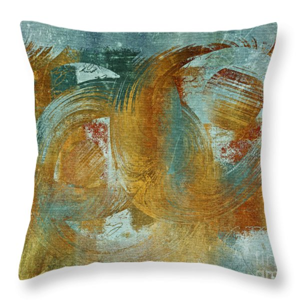 Composix 02a - v1t27b Throw Pillow by Variance Collections