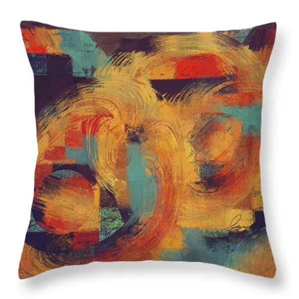 Composix - 033100100ac2t Throw Pillow by Variance Collections