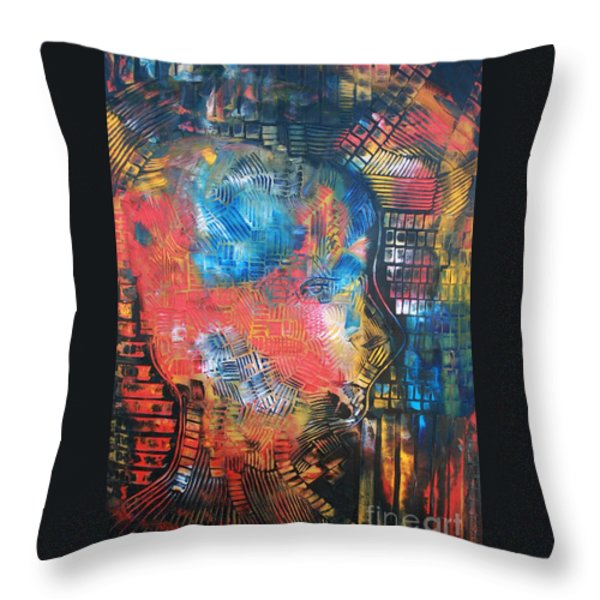 Computer Ethics linked to human anatomy Throw Pillow by Michael Kulick