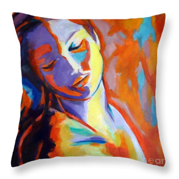 Concealed Sorrows Throw Pillow by Helena Wierzbicki
