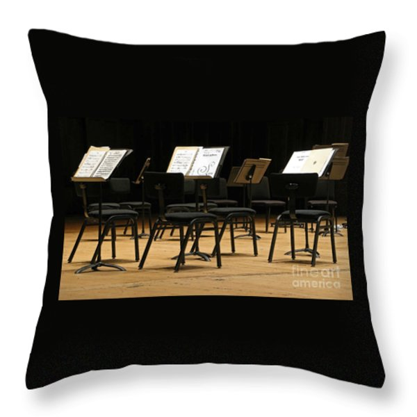 Concert Time Out Throw Pillow by Ann Horn