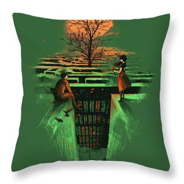 Concrete Maze Throw Pillow by Budi Satria Kwan