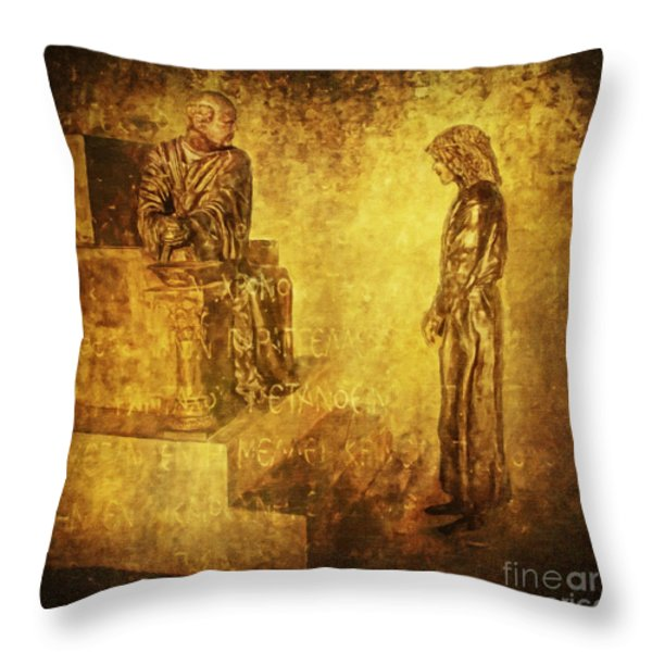 CONDEMNED Via Dolorosa1 Throw Pillow by Lianne Schneider