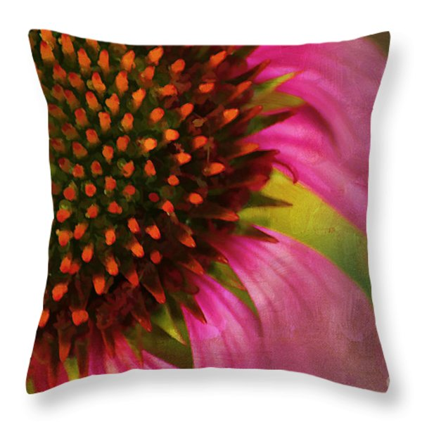 Coneflower Throw Pillow by Darren Fisher