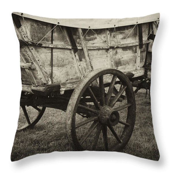 Conestoga Wagon Throw Pillow by Paul W Faust -  Impressions of Light