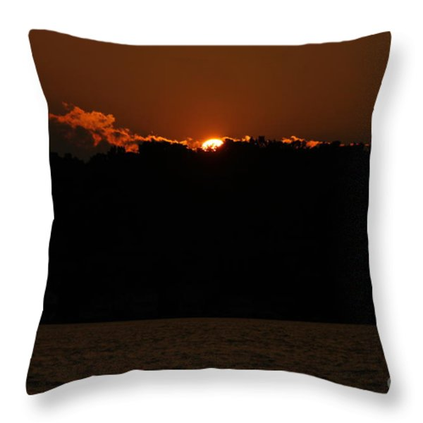 Conesus Lake At Dusk Throw Pillow by Steve Clough