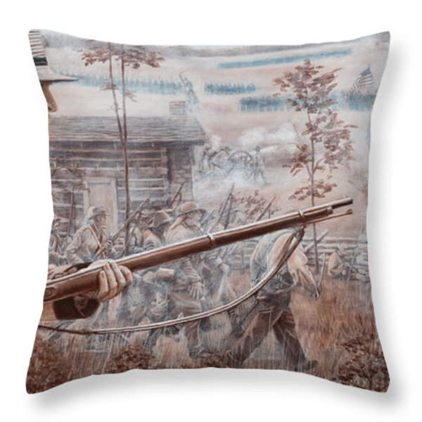 Confederate At Chickamauga Throw Pillow by Alton  w Williams