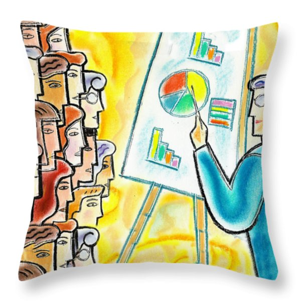 Conference Throw Pillow by Leon Zernitsky