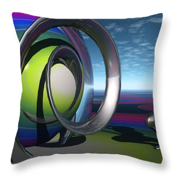 Confronted With The Color Of All Creation In The End Of Time Throw Pillow by Jon D Gemma